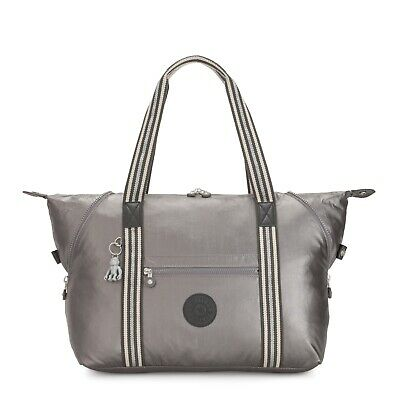 Kipling Large Travel Bag ART M Shoulder Bag CARBON METALLIC Grey SS20 RRP £102