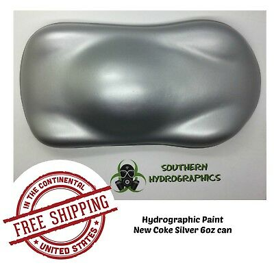 Hydrographic Film Hydro Dip Kit Paint Base Coat 6oz Aerosol New Coke Silver