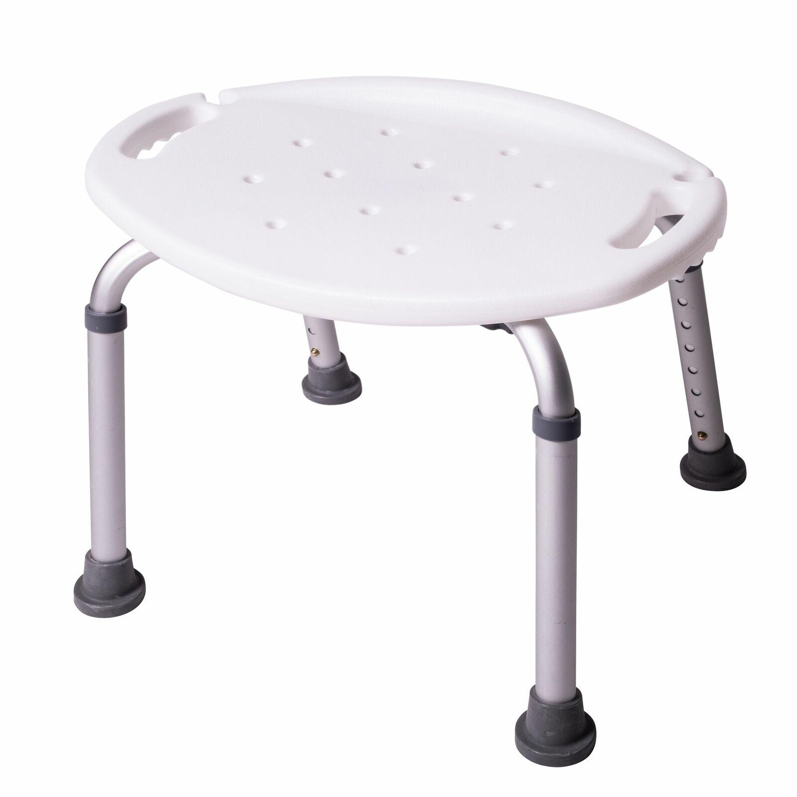 ONVAYA® Duschhocker oval weiß | 150kg | höhenverstellbar | Duschsitz | Badhocker
