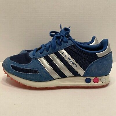 Adidas Men's L.A. Trainer Sneakers Blue Size 8.5