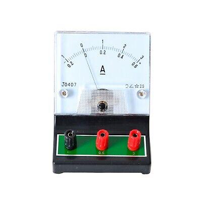 Vintage Ampere Meter Ammeter Tester Laboratory School Project 0.2-0.61-3 Amp