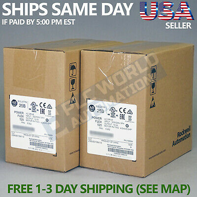 2020 New Sealed Allen Bradley 25b-d010n114 A Ac Drive 4kw 5hp Latest Mfg Date