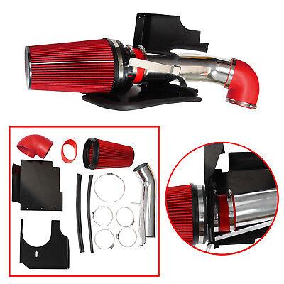 COLD AIR INTAKE HEAT SHIELD RED KIT+FOR 99-06 Silverado 1500 4.8L 5.3L 6.0L V8