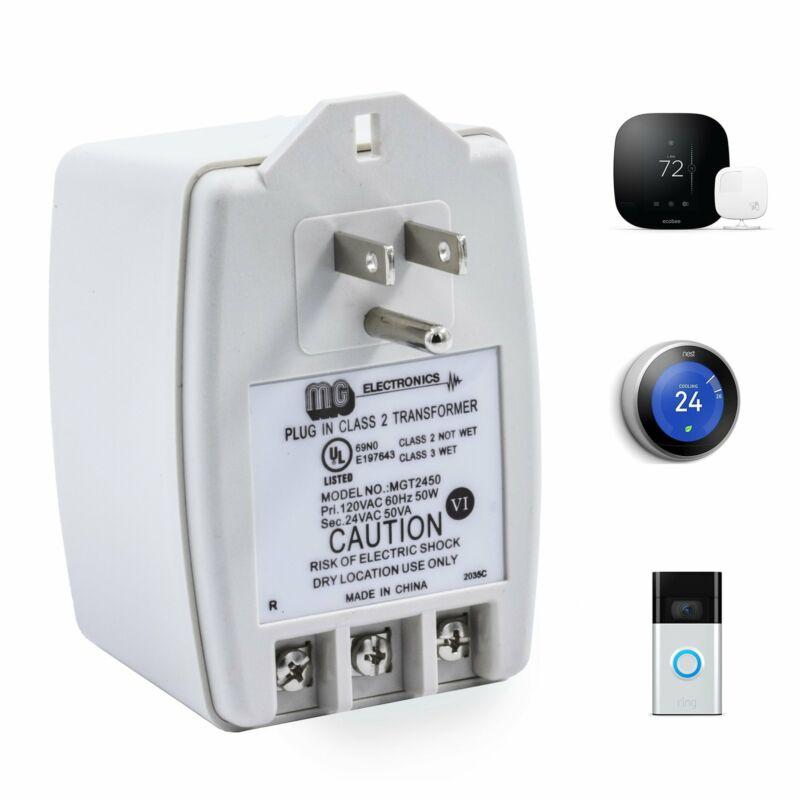 MG Electronics MGT2450 Transformer, 24V 50VA for Security Cameras, Door Bell