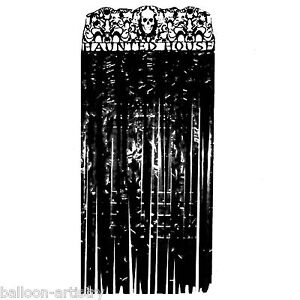 Halloween Haunted House Gothic Party Door Doorway Curtain Decoration