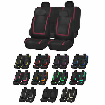 Car Parts - Auto Seat Covers for Car Sedan Truck Van Universal Seat Covers 12 Colors