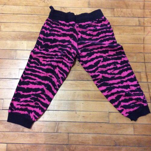 Victorias Secret Zebra Pants XS Pink Cropped Capri Leggings VS Lounge Sleep Cozy