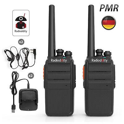 2* Radioddity R2 PMR446 Scrambler Hand-Funkgerät Walkie Talkie VOX 16CH EU