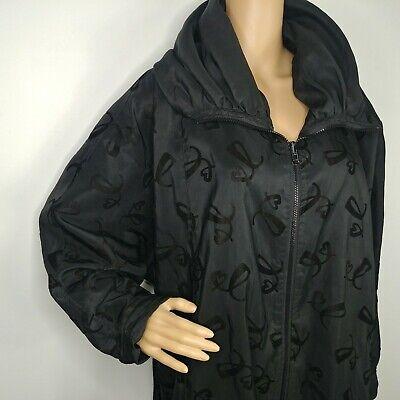 Bag It by Mycra Pac Packable Reversible Rain Jacket Zip Up Hooded Velvet -