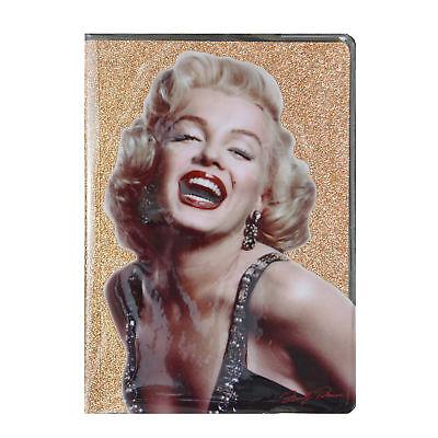 Marilyn Monroe Glitter Lined A5 Notebook Stationery Gift Idea