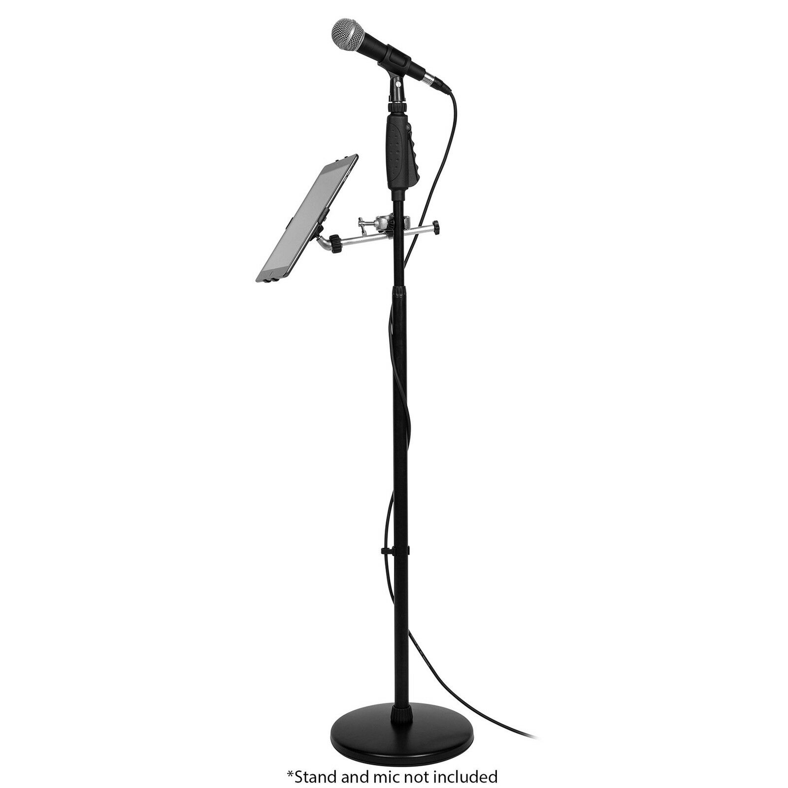 talent iclaw mic or music stand holder for apple ipad 844632096303 ebay. Black Bedroom Furniture Sets. Home Design Ideas