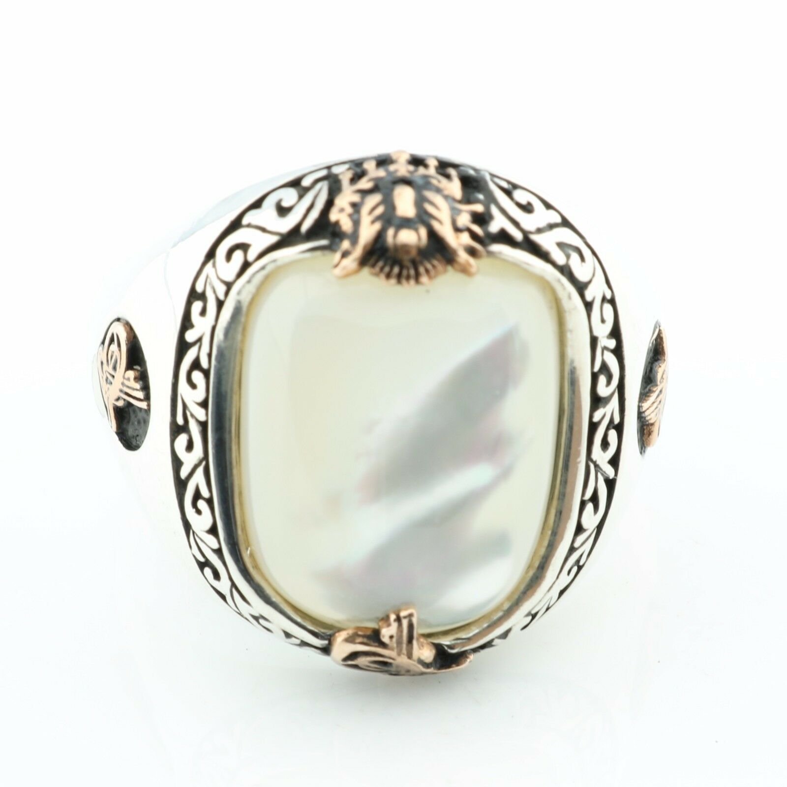 925 Sterling Silver Mother Of Pearl Sultan Signature Men S
