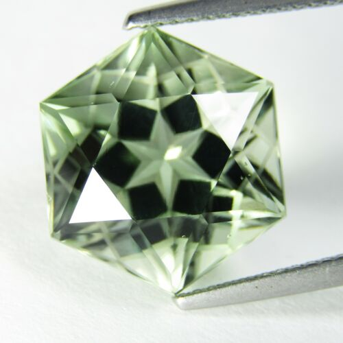 10.87Cts Graceful Natural Green Amethyst-prasiolite-Octagonal Cut Loose Gem VDO