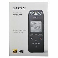 Sony ICD-SX2000 Hi-Res Portable Audio Stereo Recorder 16GB Linear PCM USB Direct