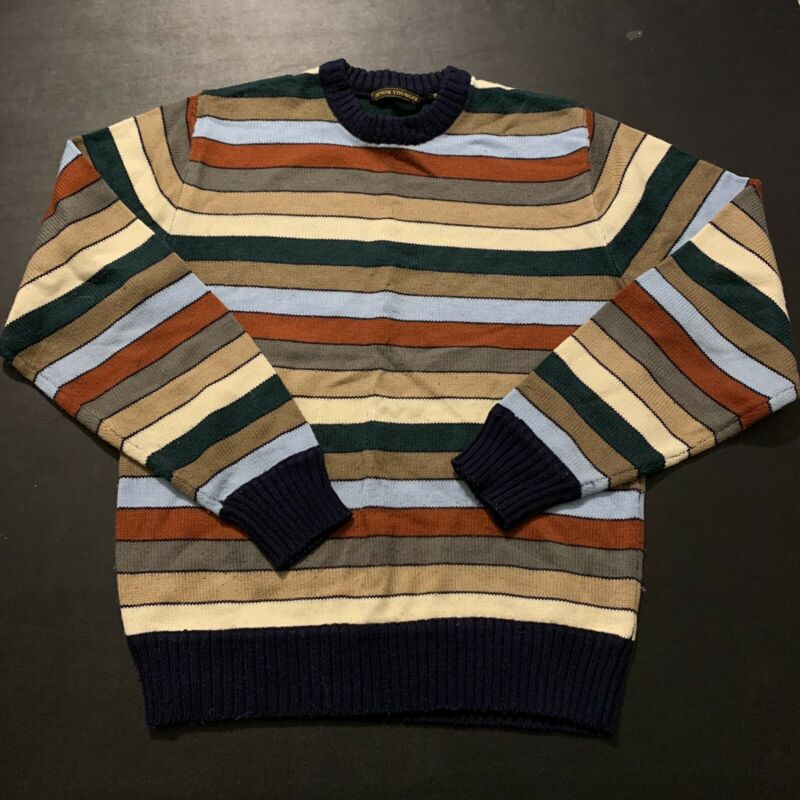 Vintage Womens Stripe Sweater Jayson Younger Fashion Design Rare Music Punk M