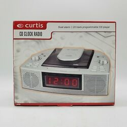 Curtis CR4966 Dual Alarm Clock 20 Track Programmable CD Player AM/FM Radio - New