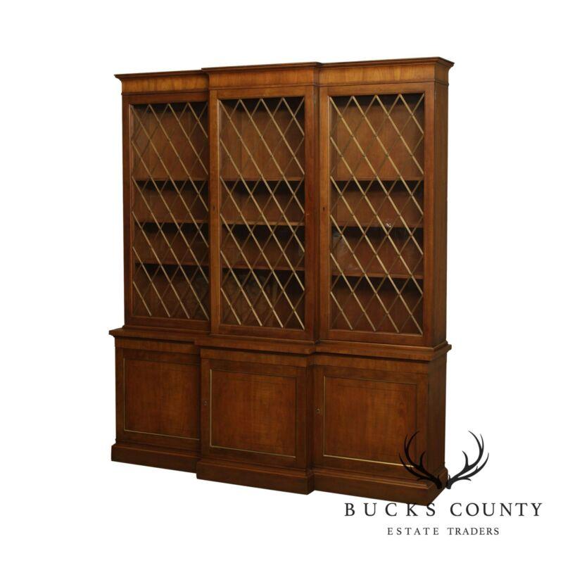 Baker Vintage Regency Style Bookcase Breakfront