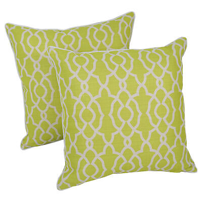 """Blazing Needles 18""""Corded Throw Pillows with Inserts  - Gree"""