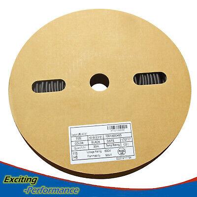 100 Ft. 100feet Black 316 5mm Polyolefin 21 Heat Shrink Tubing Tube Cable Ul