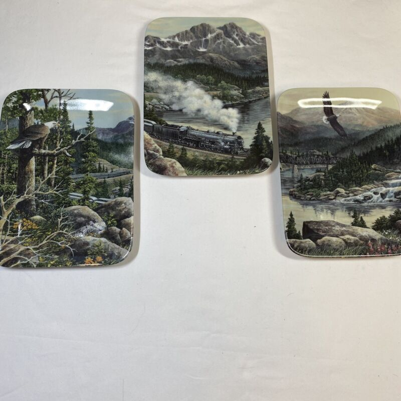 Heart of the Rockies Set Of 3 Collector Series Plates by Harold Roe
