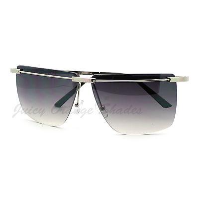 Unique Designer Fashion Rimless Square Flat Top (Unique Sunglasses)