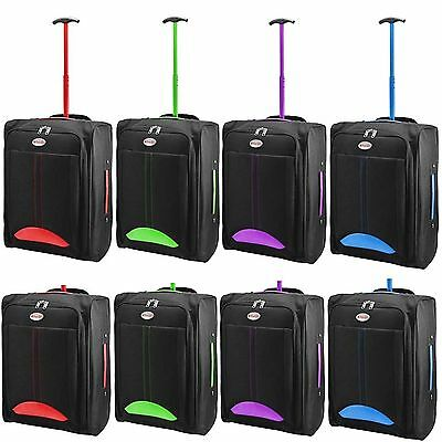 WHEELED CABIN TRAVEL BAG LIGHTWEIGHT SUITCASE CASE HAND LUGGAGE TROLLEY HOLDALL
