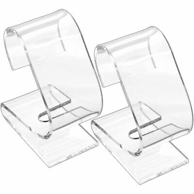 2 Clear Watch Displays Acrylic Stand Showcases Tools