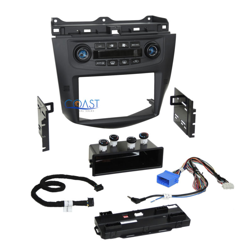 Car Radio Stereo Dash Kit Integrated Climate Control for 2003-2007 Honda Accord