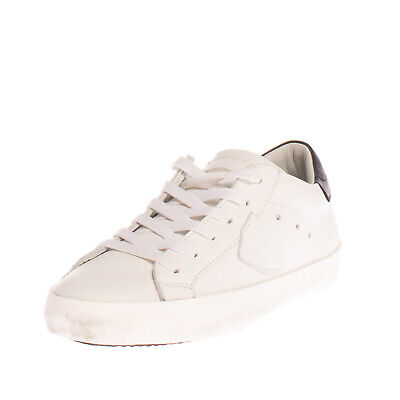 RRP€220 PHILIPPE MODEL Leather Trainers EU 33 UK 1 US 2 Dirty Look Made in Italy