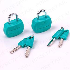 2 x SMALL TRAVEL PADLOCKS + KEYS 30mm Rucksack Flight Bag Suitcase Luggage Lock
