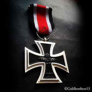 GERMAN IRON CROSS 2ND CLASS 1939 WW2 ANTIQUE MILITARY MEDAL ARMED FORCE COPY