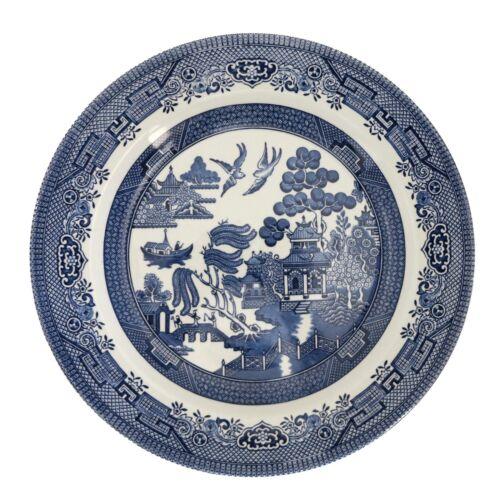 4 Churchill Blue Willow Dinner Plates