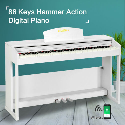 88 Key Weighted Hammer Action Electric Keyboard Piano Adapte