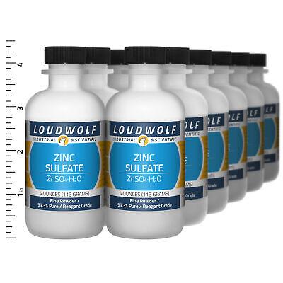 Zinc Sulfate 3 Lb Total 12 Bottles Reagent Grade Fine Powder Usa Seller