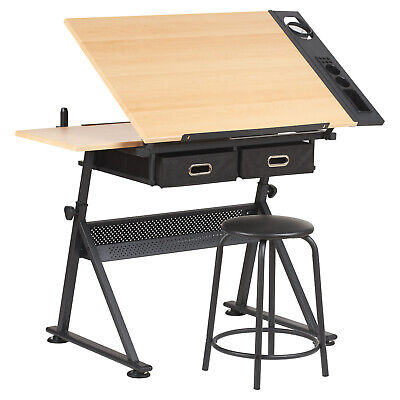 HARTLEYS DRAWING TABLE WITH 2 DRAWERS DRAFTING BENCH ARTISTS/ENGINEERING DESK