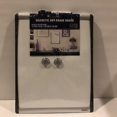 Quartet Dry Erase Board Magnetic 11 X 14 Blacksilver Frame 79367 New