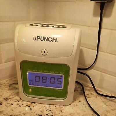 Upunch Electronic Time Clock Bundle Employee Work Hours Payroll No Key