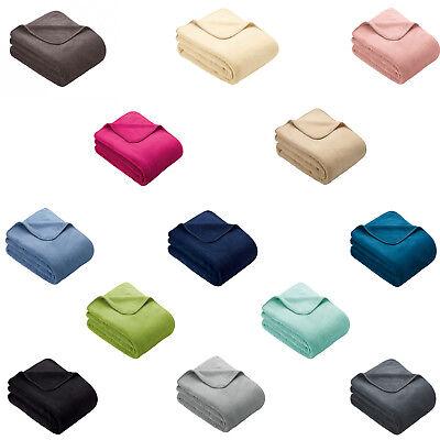 Ibena S.OLIVER Plain Wellsoft Cosy Throw / Blanket - Range of Colours Available