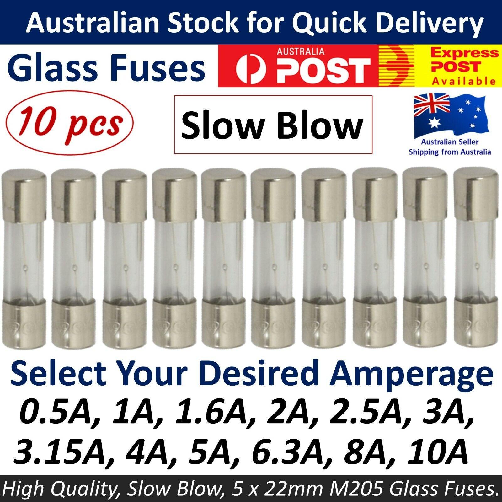 4 amp T4A T4AL fuse slow blow Antisurge 20x5mm x 10