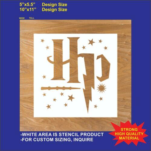 HP Wizard, Harry Potter - Reusable, Flexible Plastic Stencil