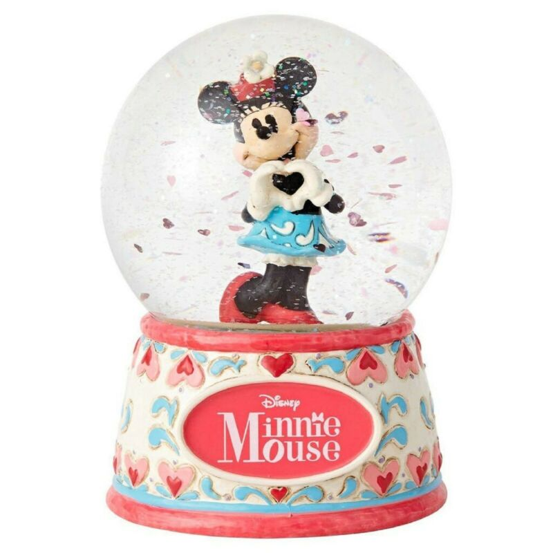 Jim Shore Disney Traditions Sweetheart Minnie Mouse 100mm Waterball 4059187 MIB