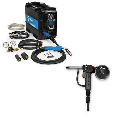Miller Multimatic 200 Mig Tig Stick Welder Pkg With Spool Gun 907518 300371