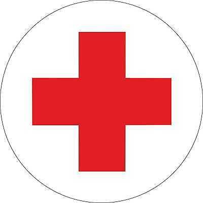 Rotes Kreuz,. Medizin. Aufkleber,  für Erstehilfe Schrank 10cm
