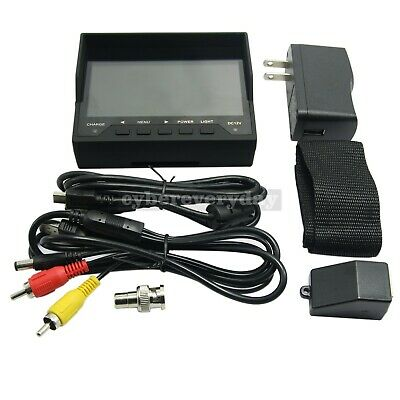 "4.3"" inch LCD Video Security Tester COLOR CCTV Camera Test FPV Monitor w/Cable"
