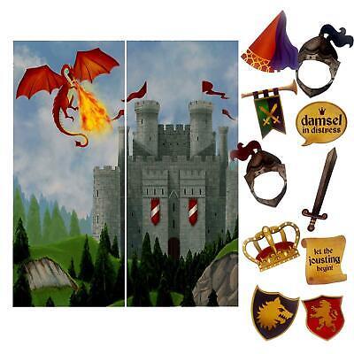 Mittelalterlich Szene Einstellung & Fotostand Requisiten Chevaliers Drachen
