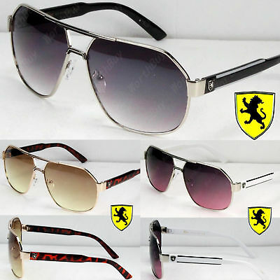 New Mens Womens Khan Lion Pilot Designer Retro Sunglasses Fashion Shades Hexagon sunglasses