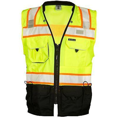 Ml Kishigo Class 2 Reflective Surveyor Safety Vest With Pockets Yellowlime