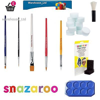 Face Painting Accessories (Snazaroo Face Painting Brushes Sponge Large Thin Flat Stipple Sponge)