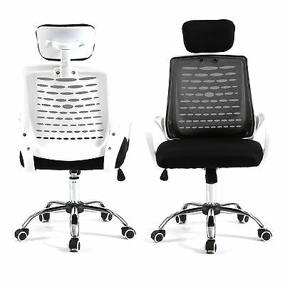Home Drafting Computer Office Desk Commercial Task Chair Armrest Chair Blkwh