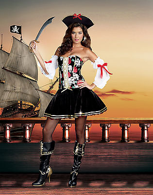 Sexy Adult Halloween Women's Naughty at Sea Pirate - Naughty Adult Halloween Kostüme